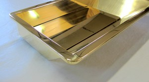 Brass basin mock up - Three gardens House