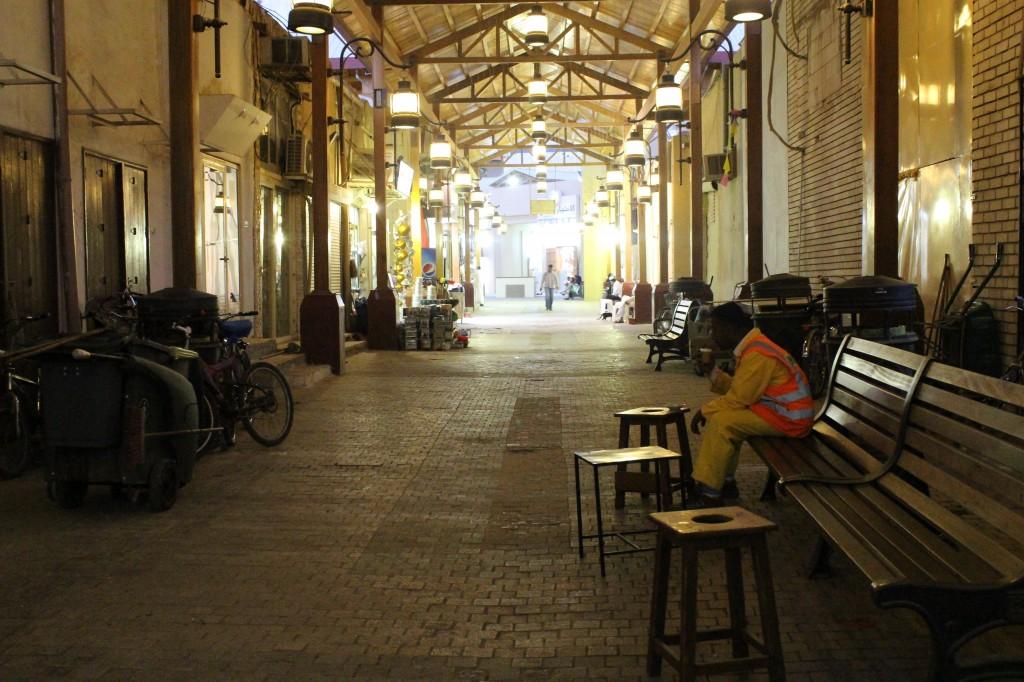 the narrow alleyways of the Mubarakiya Souk area