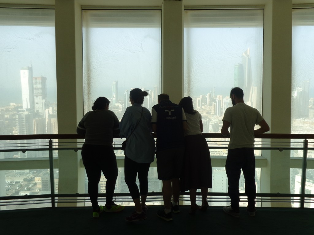 Urban tour participants enjoying the view from the Liberation Tower