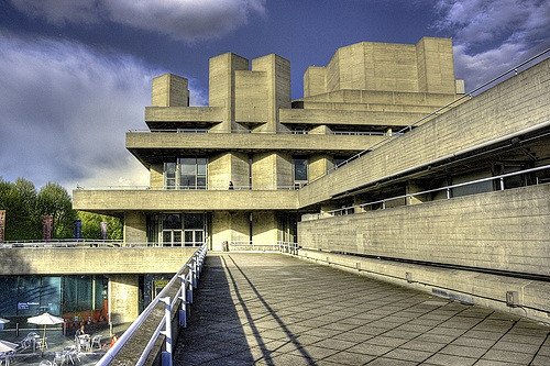 national theatre Londres brutalismo
